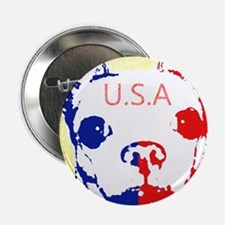 """Mikee says let's get patriotic! 2.25"""" Button"""