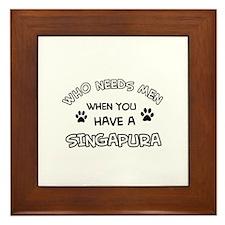 Singapura designs for the cat lover Framed Tile