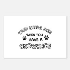 Snowshow designs for the cat lover Postcards (Pack