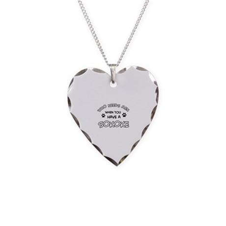 Sokoke designs for the cat lover Necklace Heart Ch