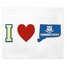 I Love Connecticut King Duvet