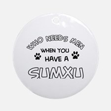 Sumxu designs for the cat lover Ornament (Round)