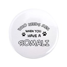 """Somali designs for the cat lover 3.5"""" Button"""