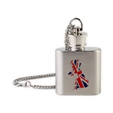 Union Jack British Isles Flask Necklace