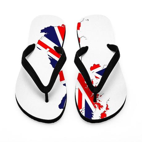 Union Jack British Isles Flip Flops