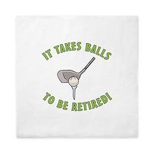 Funny Retired Golfer Queen Duvet