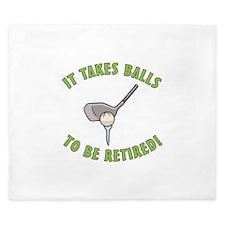 Funny Retired Golfer King Duvet