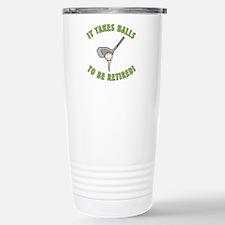 Funny Retired Golfer Stainless Steel Travel Mug