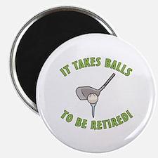 """Funny Retired Golfer 2.25"""" Magnet (100 pack)"""