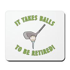 Funny Retired Golfer Mousepad