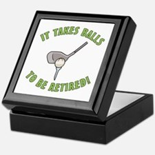 Funny Retired Golfer Keepsake Box