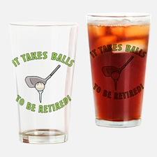 Funny Retired Golfer Drinking Glass