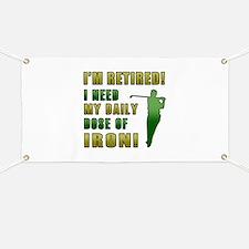 Funny Golfing Retirement Banner