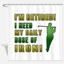 Funny Golfing Retirement Shower Curtain