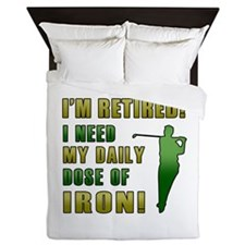 Funny Golfing Retirement Queen Duvet