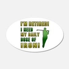 Funny Golfing Retirement Wall Decal