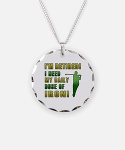 Funny Golfing Retirement Necklace