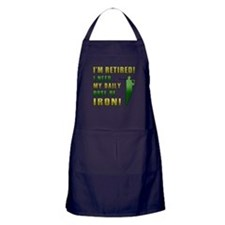 Funny Golfing Retirement Apron (dark)