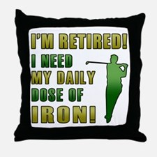 Funny Golfing Retirement Throw Pillow