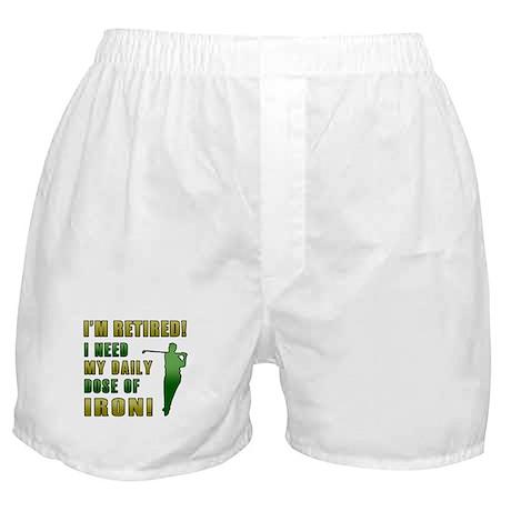 Funny Golfing Retirement Boxer Shorts