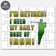 Funny Golfing Retirement Puzzle