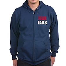 FEAR FAILS Zip Hoodie