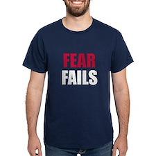FEAR FAILS T-Shirt in USA Blue