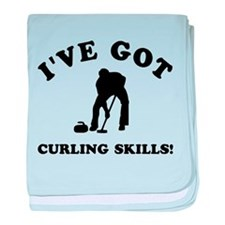 I've got Curling skills baby blanket