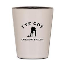 I've got Curling skills Shot Glass