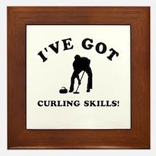 I've got Curling skills Framed Tile