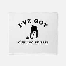 I've got Curling skills Throw Blanket