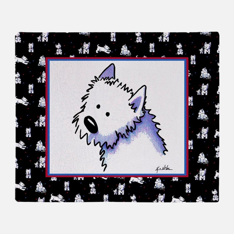 Good Dog Westie Throw Blanket