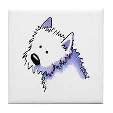 Good Dog Westie Tile Coaster