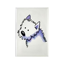 Good Dog Westie Rectangle Magnet