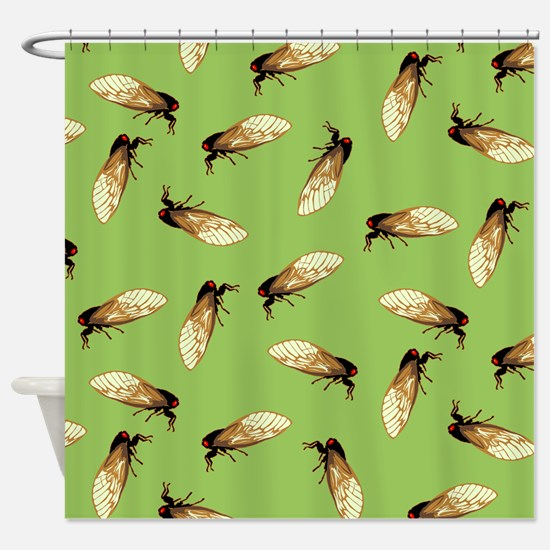 Cicada Pattern Shower Curtain