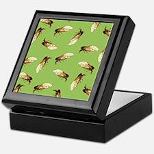 Cicada Pattern Keepsake Box