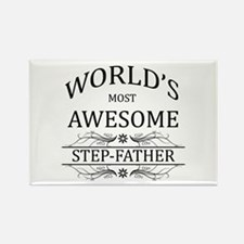 World's Most Awesome Step-Father Rectangle Magnet