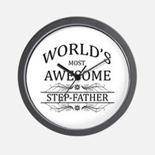 World's Most Awesome Step-Father Wall Clock