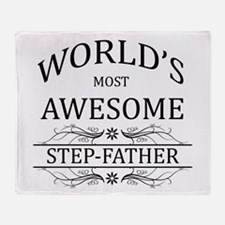 World's Most Awesome Step-Father Throw Blanket