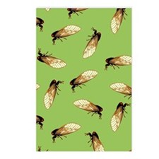 Cicada Pattern Postcards (Package of 8)