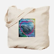 Sweet heart Dolphin... Love you !!!! Tote Bag