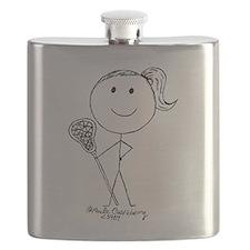 Lacrosse Stickgirl BLWTP Flask