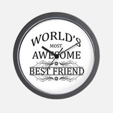 World's Most Awesome Best Friend Wall Clock