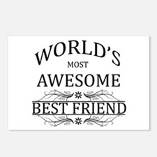 World's Most Awesome Best Friend Postcards (Packag