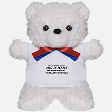 Funny Russian Tortoise designs Teddy Bear