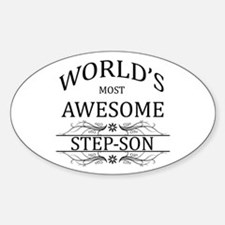 World's Most Awesome Step-Son Sticker (Oval)