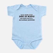 Funny Savannah Monitor designs Infant Bodysuit
