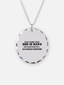 Funny Savannah Monitor designs Necklace