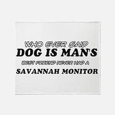 Funny Savannah Monitor designs Throw Blanket