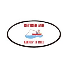 Funny Fishing Retirement Patches